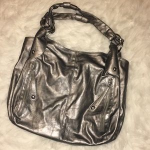 Handbags - Huge silver purse/bag❤